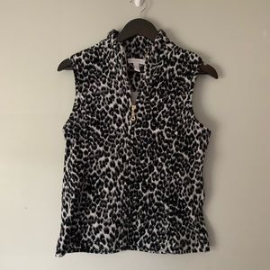 Charter Club Soft Leopard Print Quilted Vest